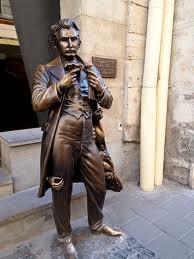 Leopold von Sacher-Masoch 'un Ukrayna'nın Lviv şehrindeki heykeli